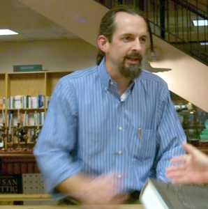 Neal Stephenson reads from his book and answers audience's questions at Book People in 2004