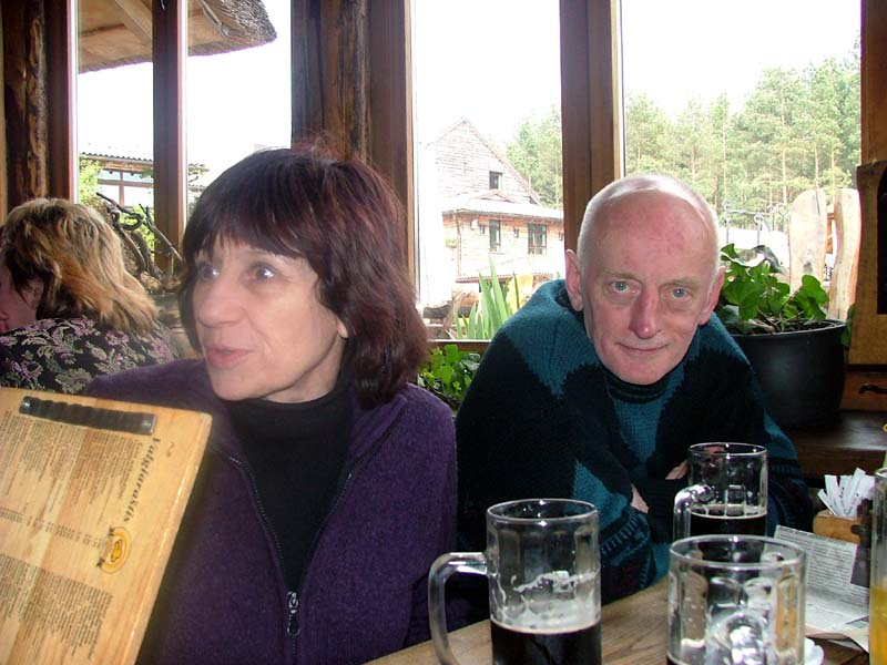 Mom and dad at a country-style restaurant in Palanga in May of 2004
