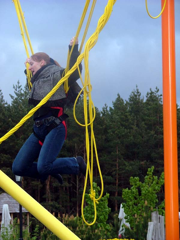 Me bouncing on a trampoline