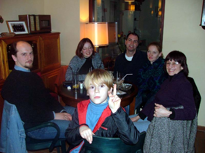 My family and I in Ramybe bar in Palanga