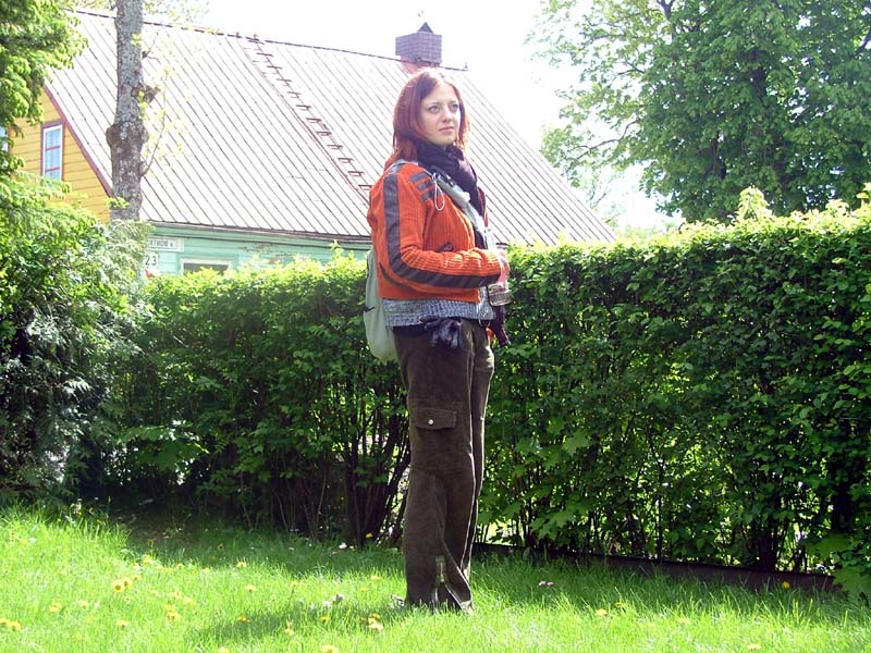 My sister M in Palanga (Lithuania) in May of 2004.