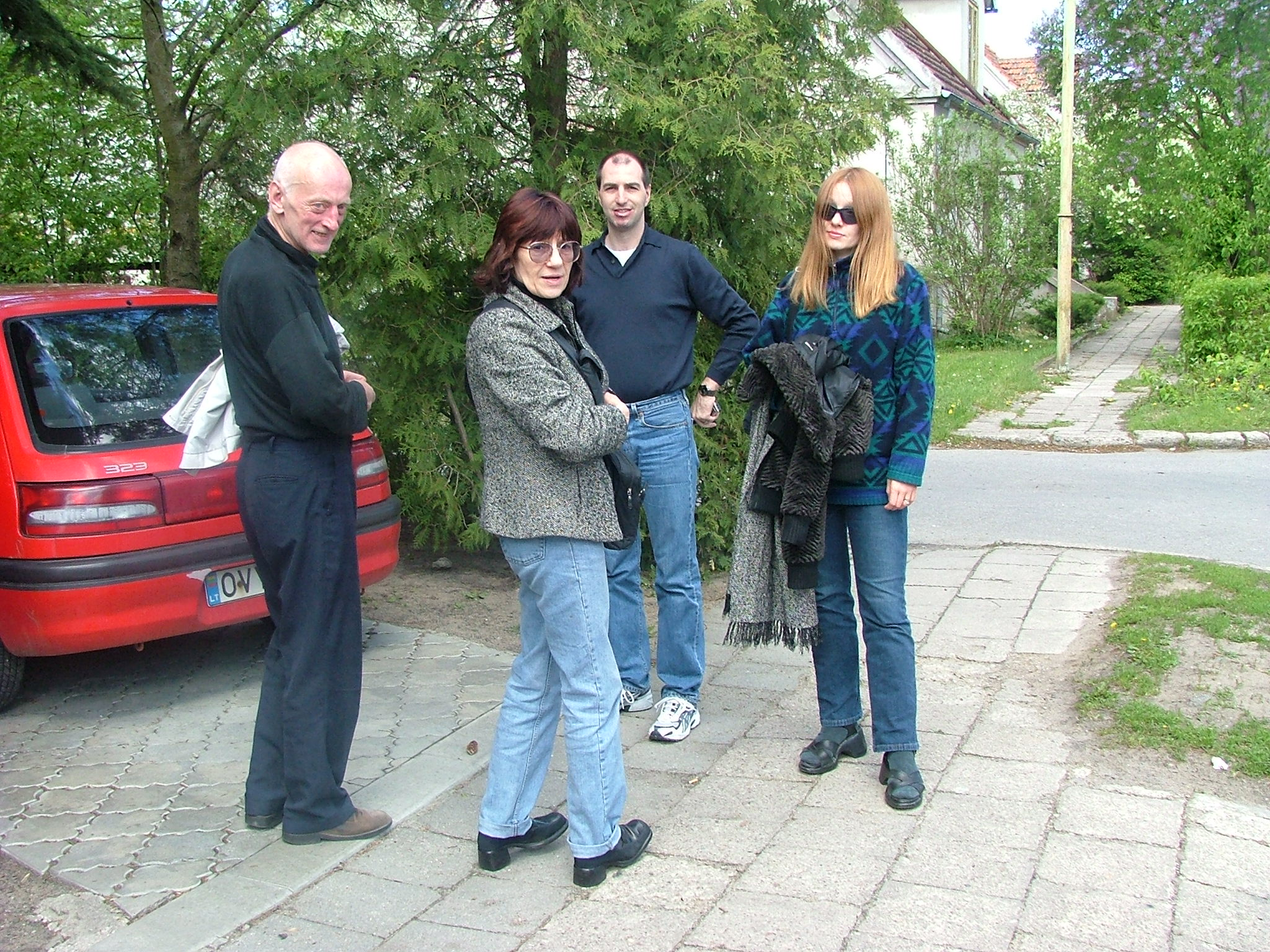 Dad, Mom, S and I heading out of Palanga