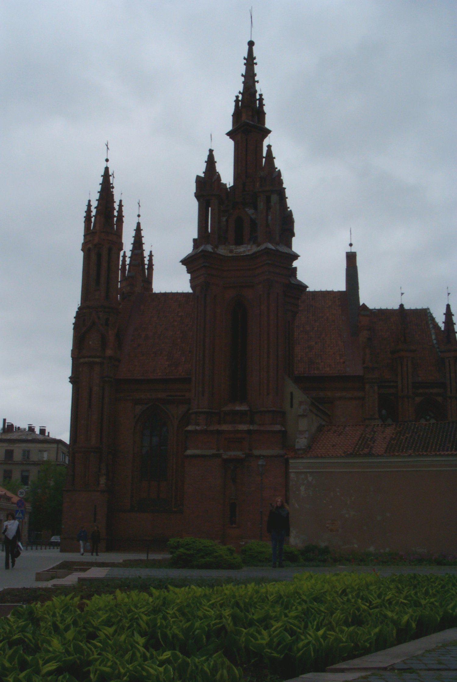 St. Ann's church, built in the late gothic period, is one of the most beautiful buildings in Vilnius old town.