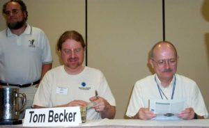 Kurt Baty, Tom Becker and Vernor Vinge at ArmadilloCon 2003
