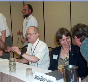 p243 Kurt Baty, Vernor Vinge, Alexis Glynn Latner at ArmadilloCon 2003