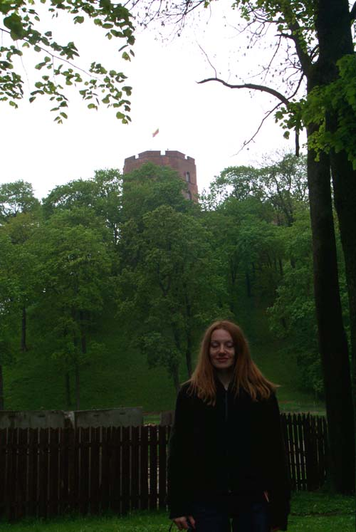 Me at the foot of the Vilnius castle (May 2004)