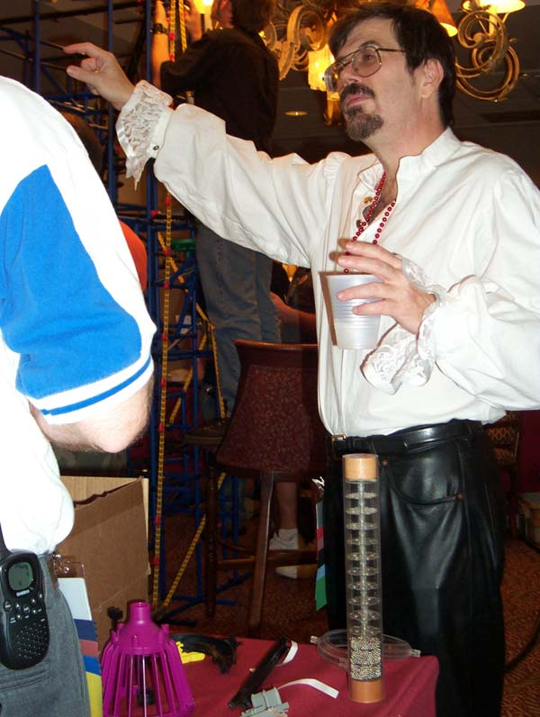 Steve Jackson of Steve Jackson games, in a pirate costume at Linucon 2004