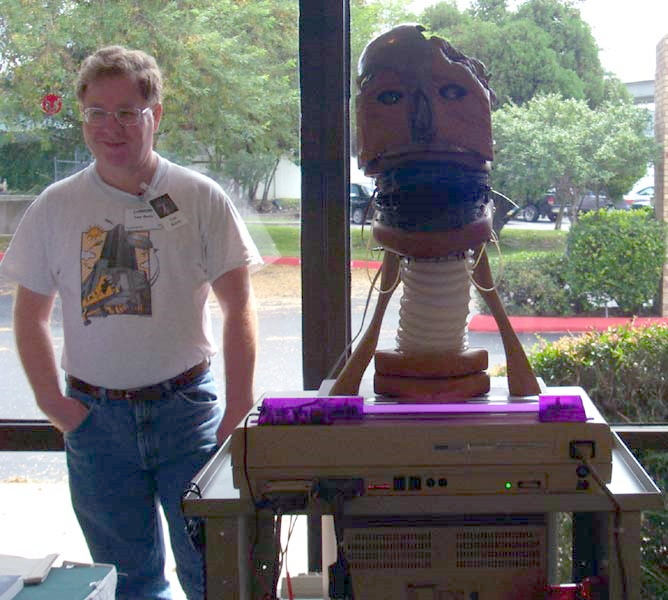The Babbling Robot Head, a Robot Group project exhibited at Linucon 2004
