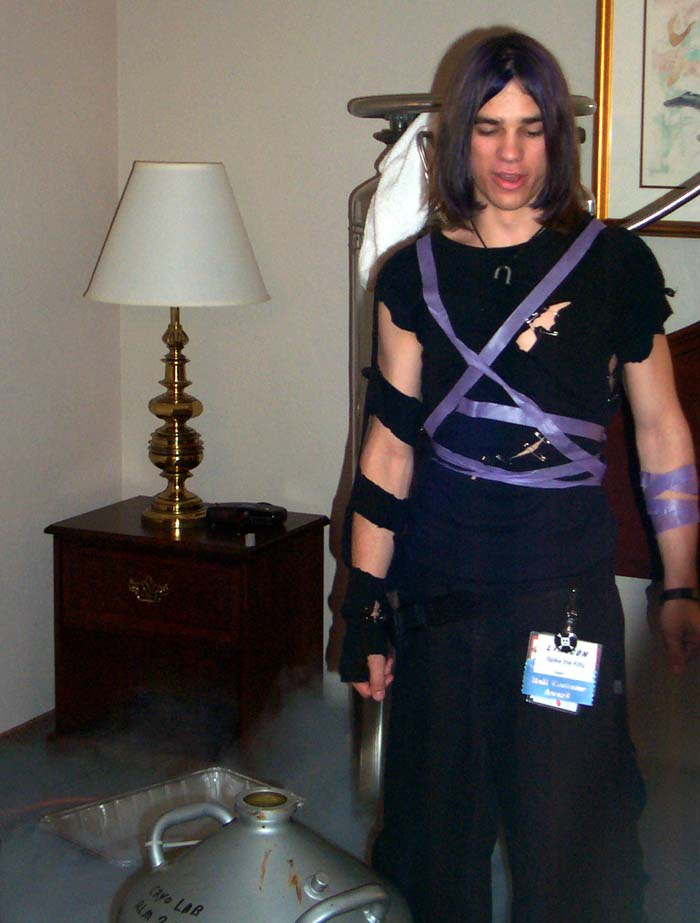 A guy in a costume at Linucon 2004
