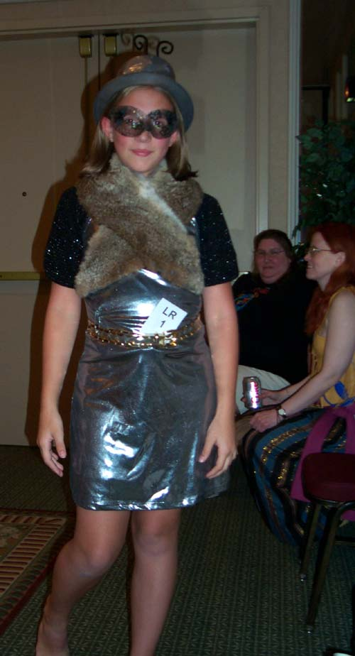 Impromptu costume at Linucon 2004