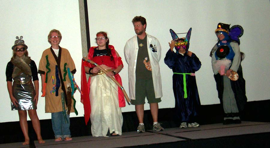 Impromptu costumes at Linucon 2004