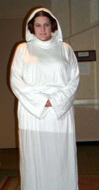 Princess Leia at Linucon 2004 cosplay / masquerade