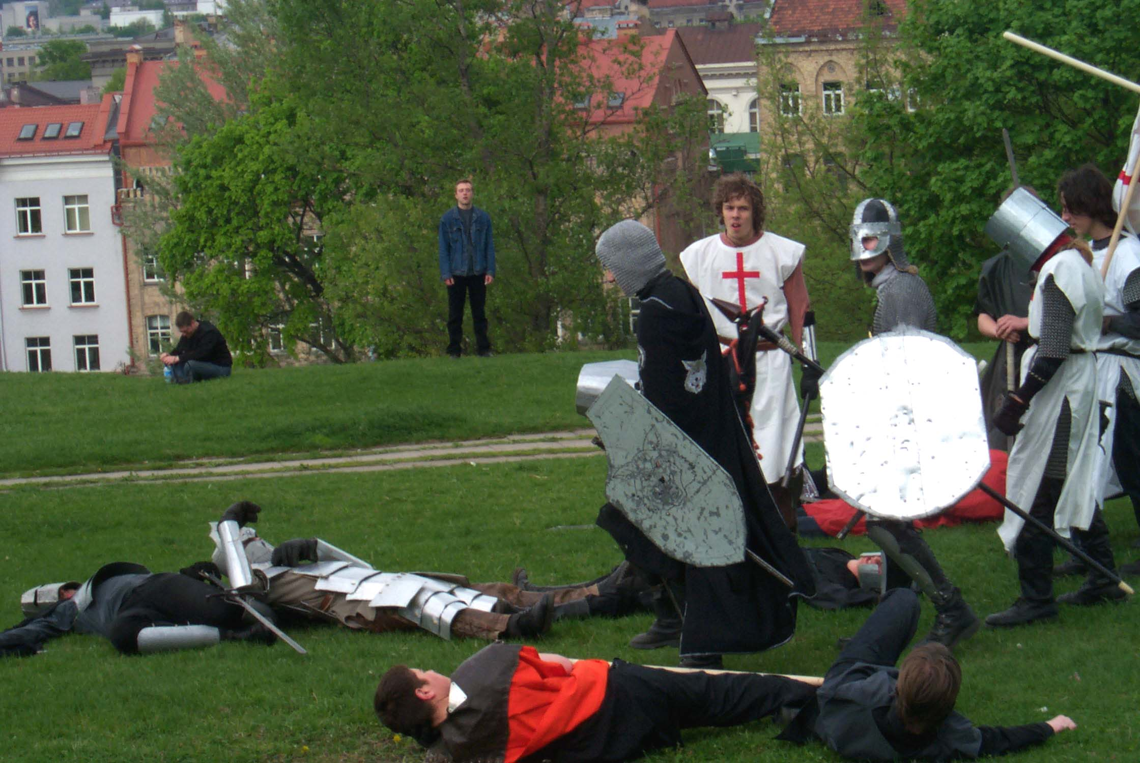 "The first ""blood"" has been ""spilled"" in a LARPG at Lituanicon 2004, Vilnius, Lithuania"