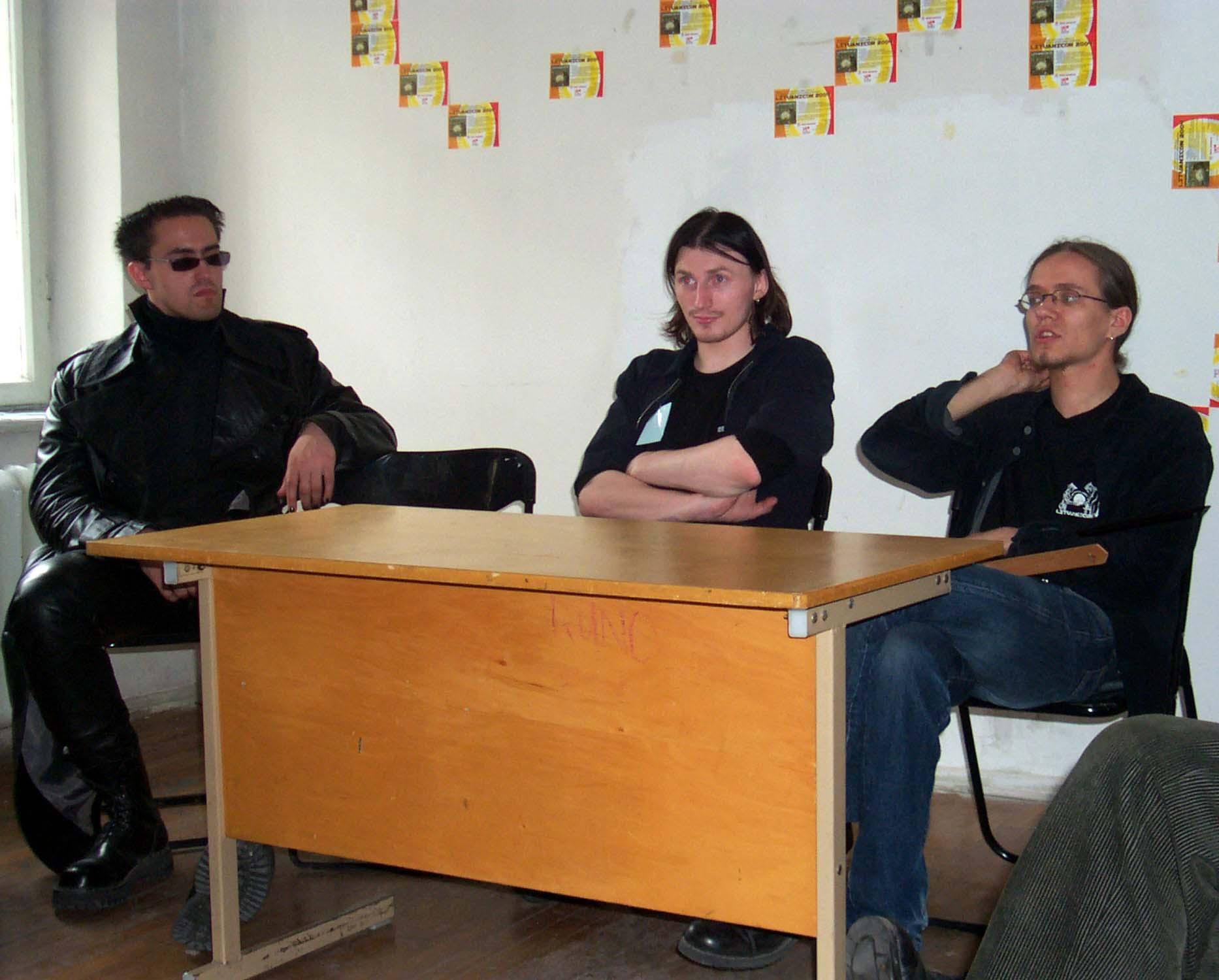 Board meeting of Lithuanian science fiction fandom