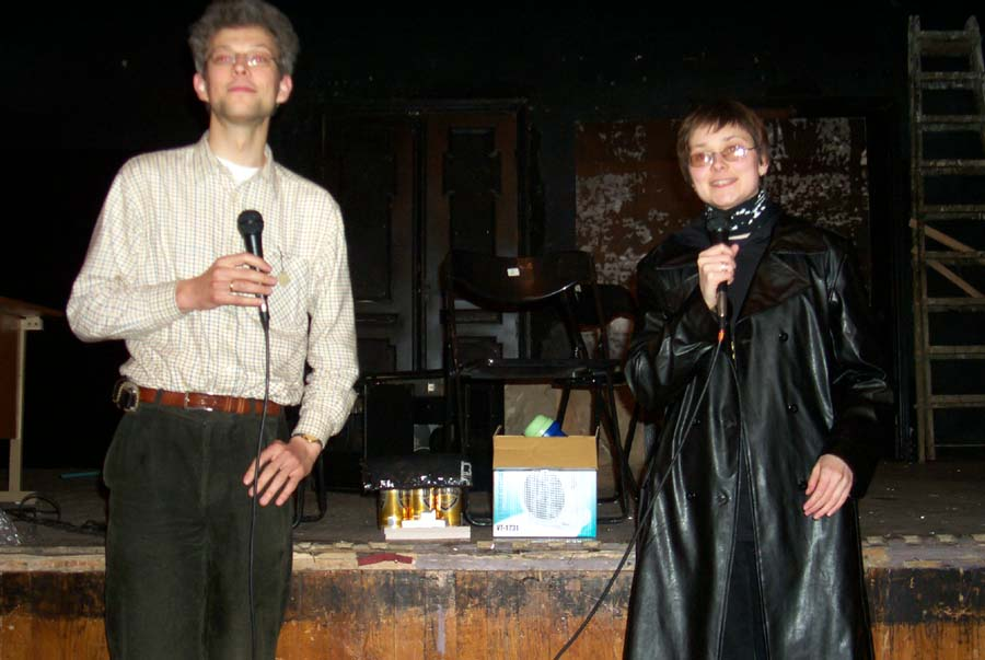 The award and closing ceremony at the Lituanicon 2004.