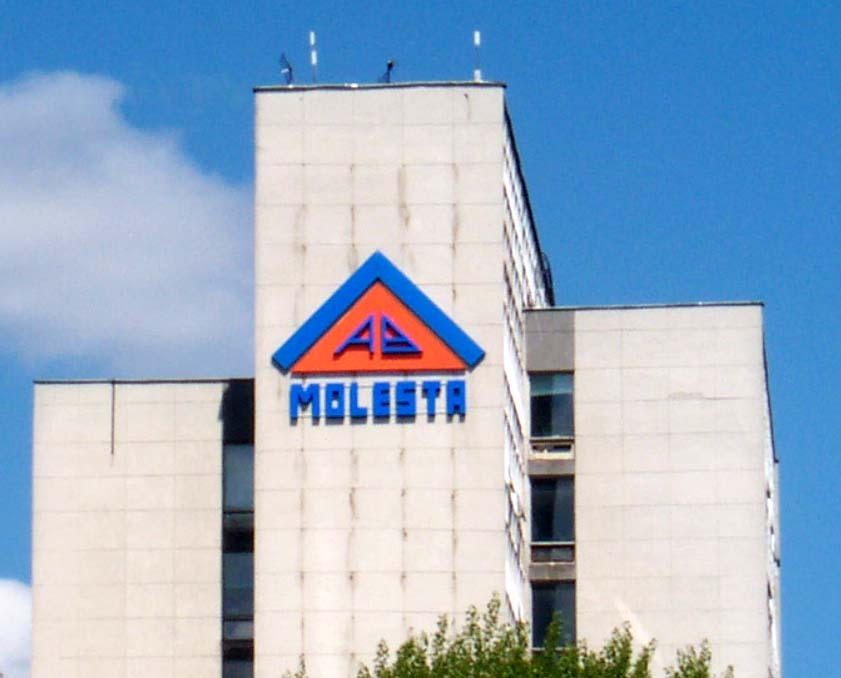 A sign of a company named Molesta