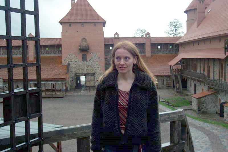 Me in Trakai castle courtyard