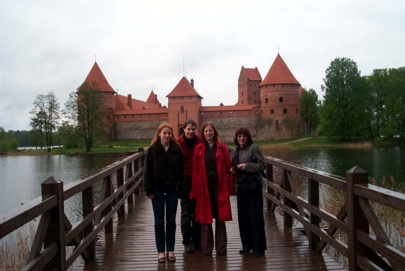 On the bridge to Trakai castle