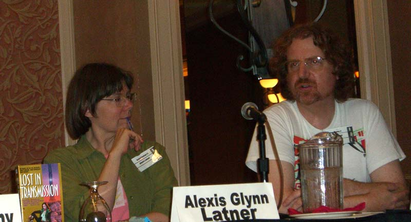 Alexis Glynn Latner and Tom Becker at the ArmadilloCon 2005 in Austin, TX, 2005