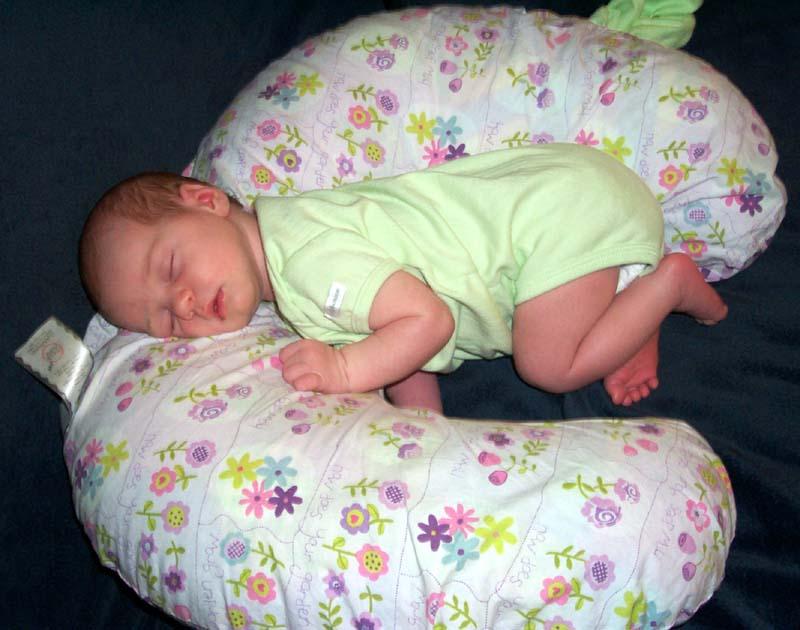 Third week: E on Boppy pillow
