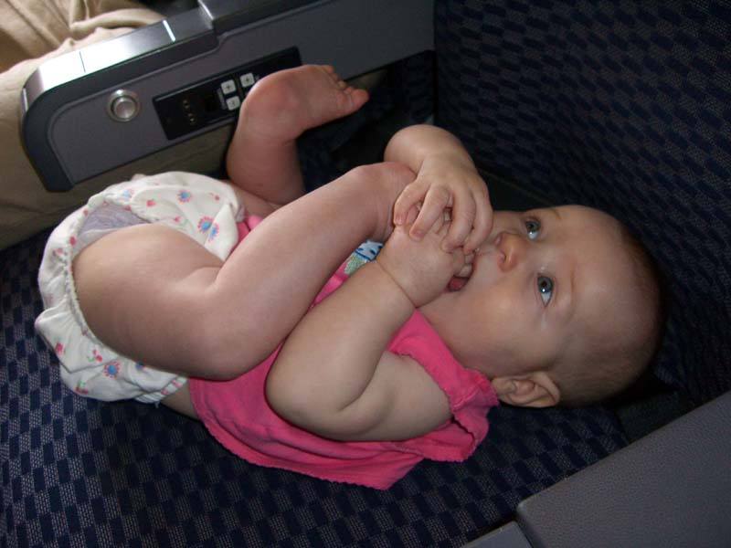 E in a plane seat, August 2005