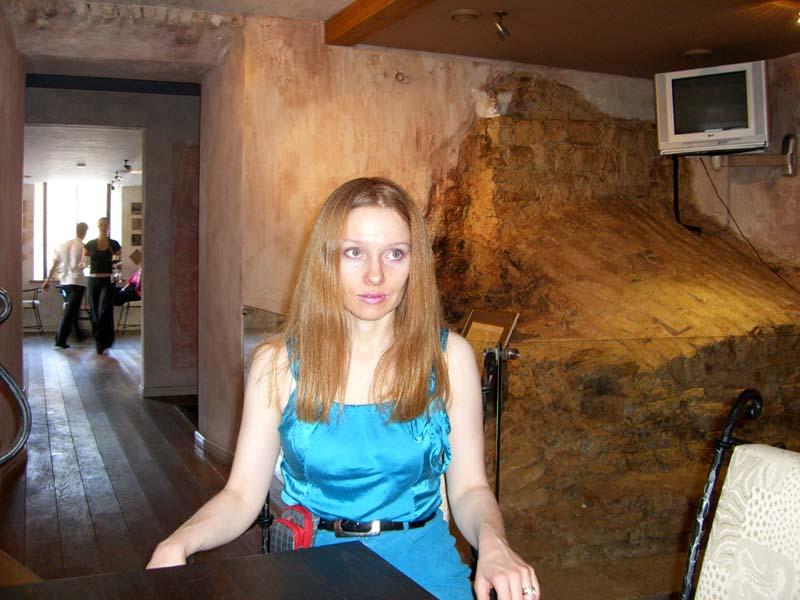 Me in a cafe in Uzupis, September 2005