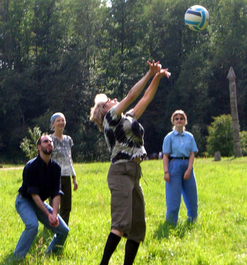 Volleyball in the Puckoriai park after the picnic