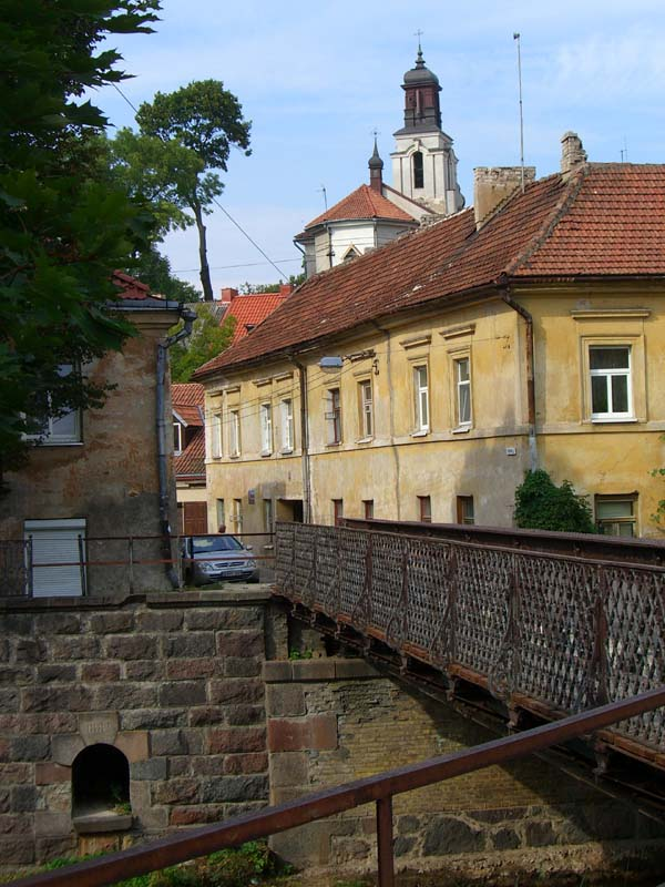 A bridge over Vilnia river in Uzupis, September 2005