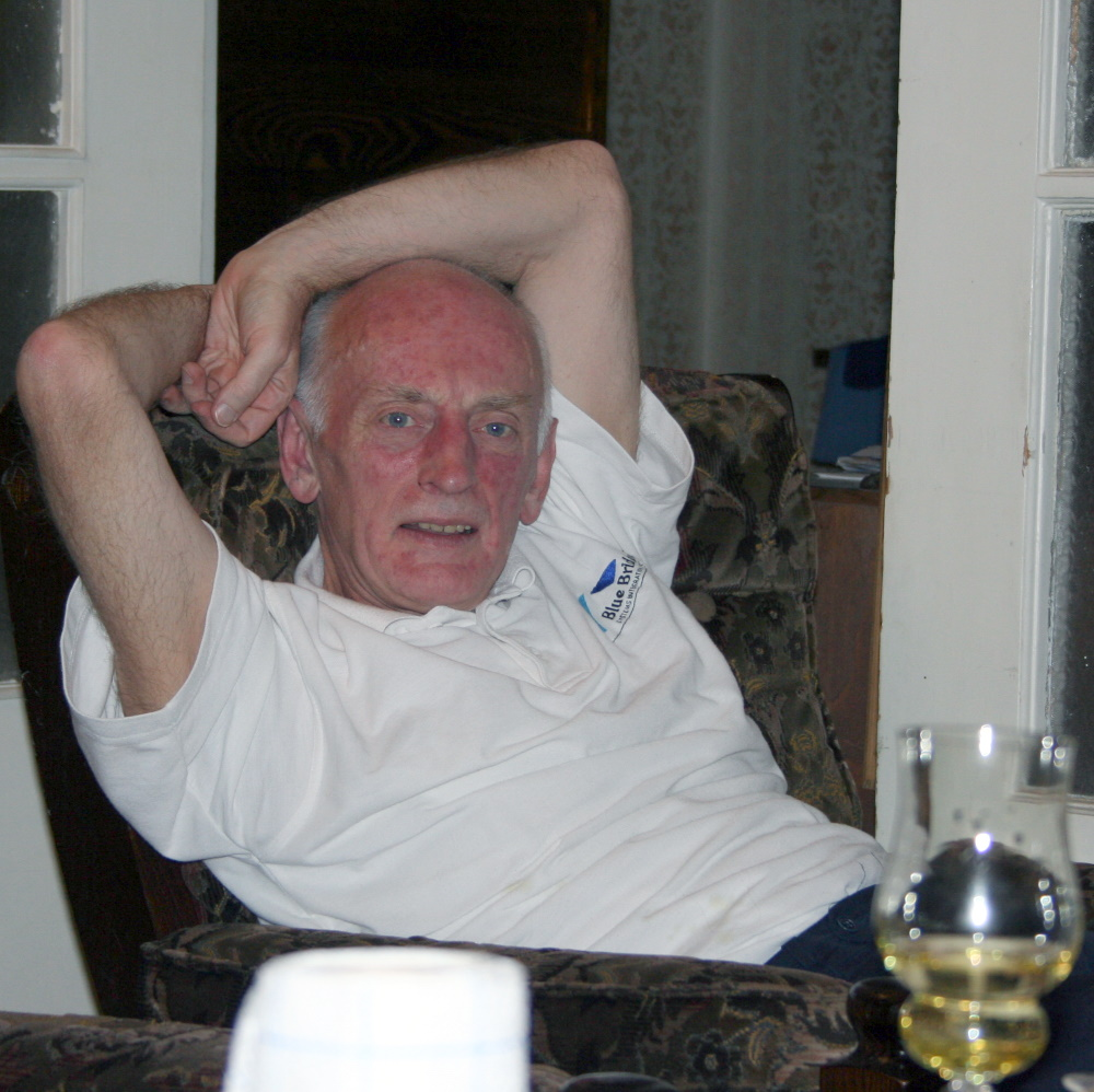 My dad, August 2005, at my parents' home in Vilnius, Lithuania