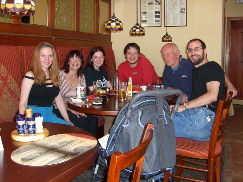All of us at a Russian cafe in Palanga, September 2005
