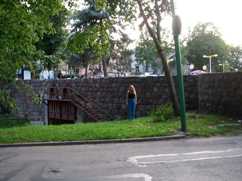 Me in front of the bridge over Raze in Palanga, September 2005
