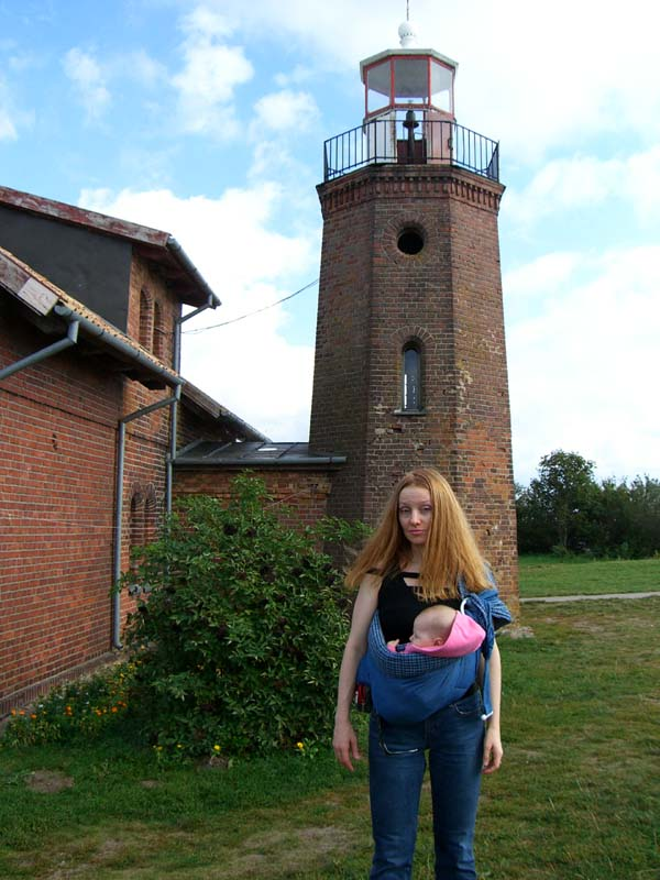 Me in front of a lighthouse at Ventes Ragas, September 2005