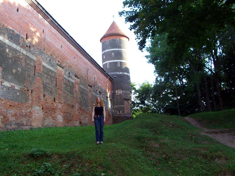 Me in front of the Panemune castle, September 2005