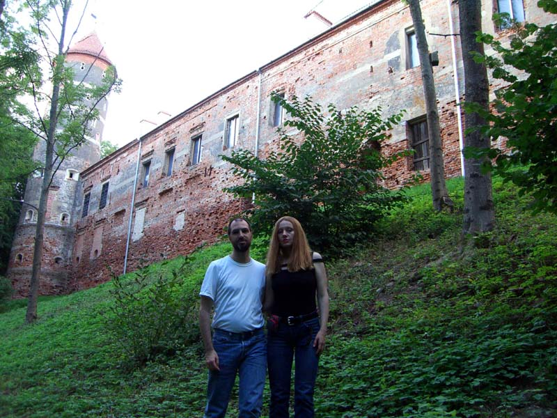 S and I at the Panemune castle, September 2005