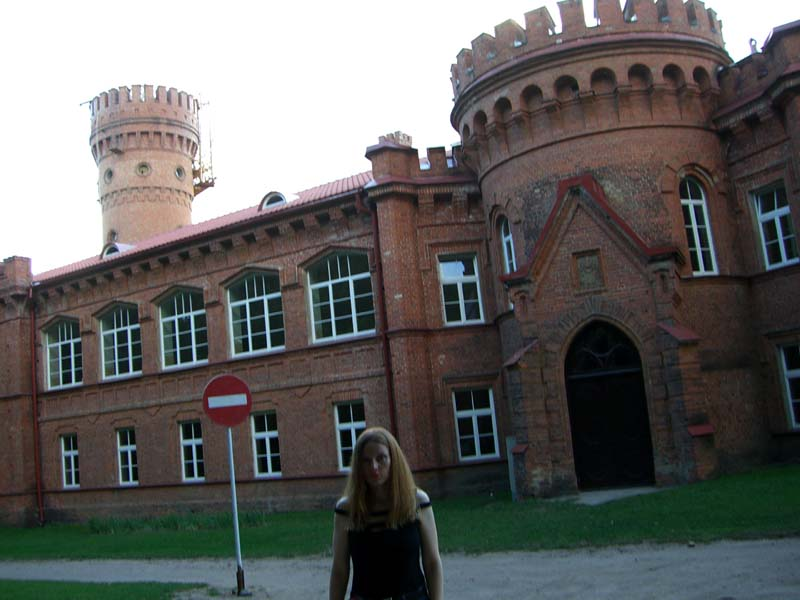 Me in front of the Raudone castle, September 2005