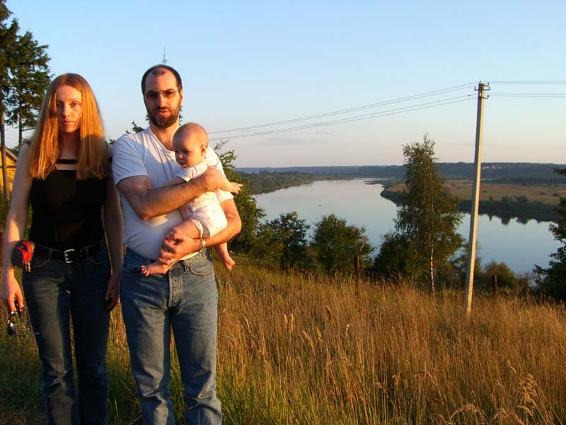 Me with S and E by the Nemunas river, September 2005