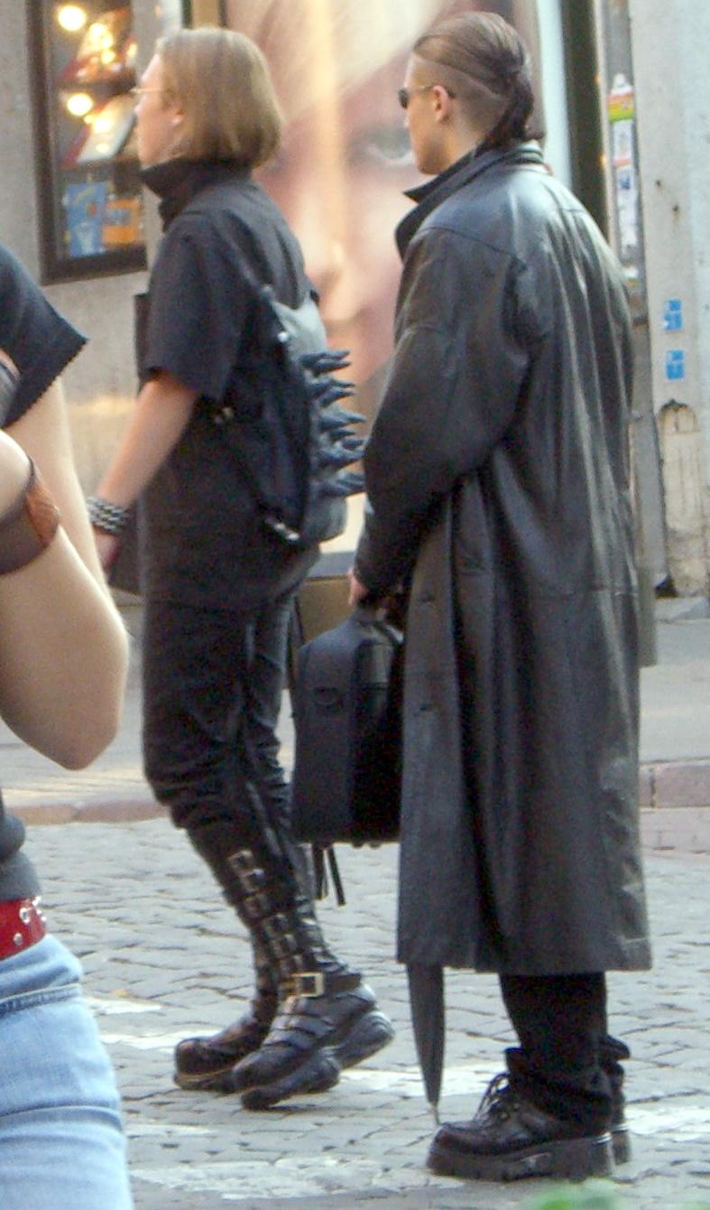 Goths on Pilies street in Vilnius Old Town, September 2005