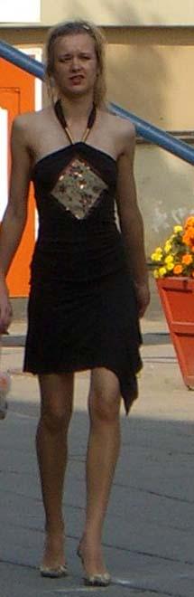 Black dress, Vilnius Old Town, September of 2005