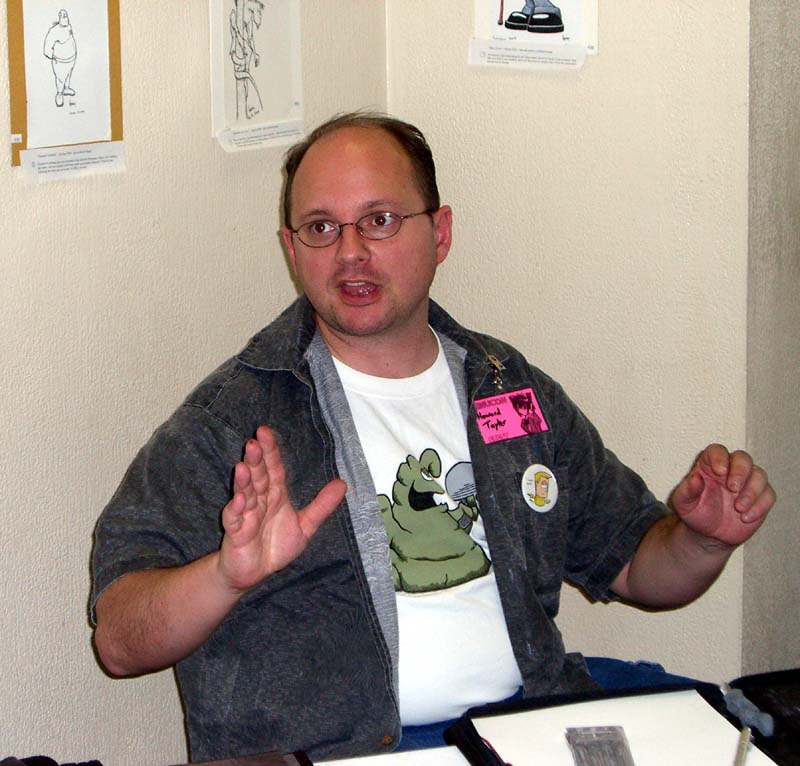 Artist Howard Tayler at Linucon 2005