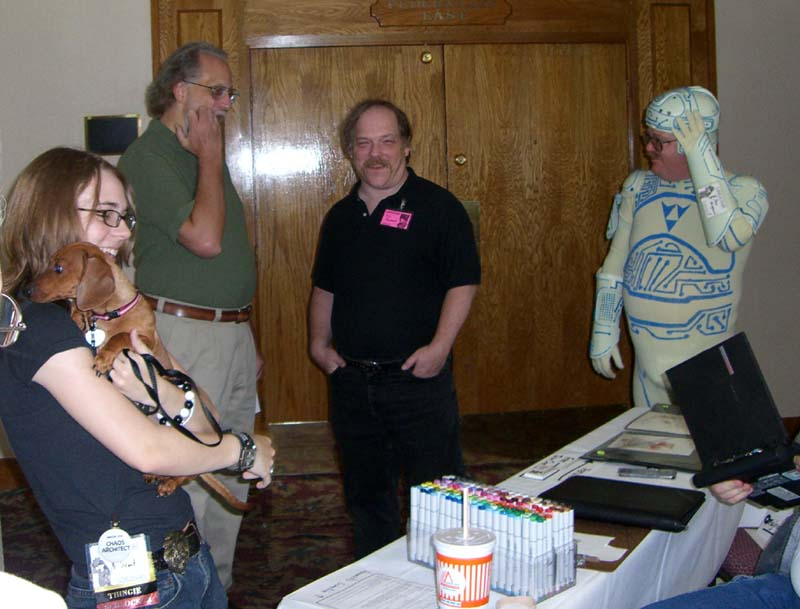 John Quarterman, Eric Raymond and The Tron Guy at Linucon 2005