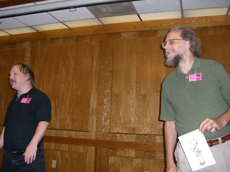 Eric Raymond and John Quarterman at Linucon 2005