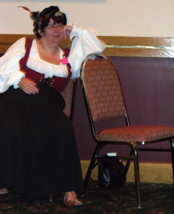 Writer Rie Sheridan at Linucon 2005