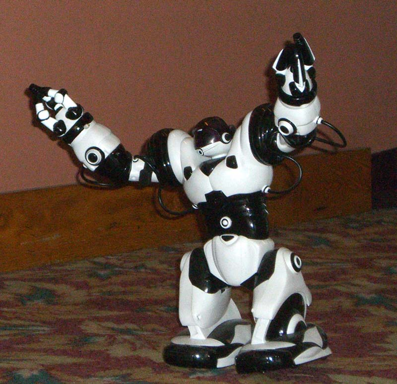 Black-and-white Robot at Linucon 2005