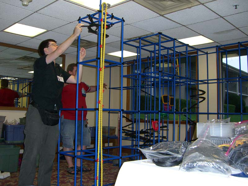 Chaos Machine being built at Linucon 2005