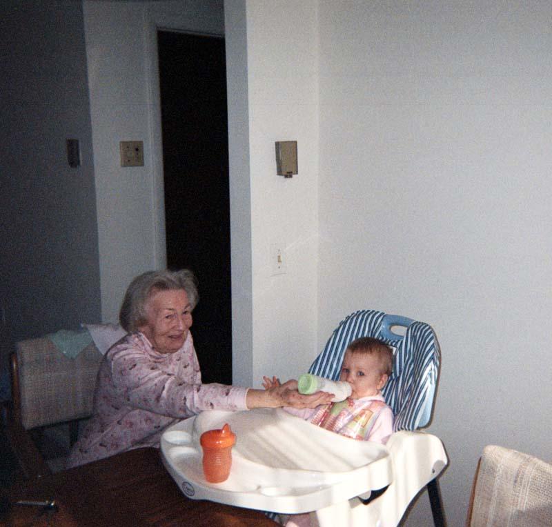 Grandma feeds E