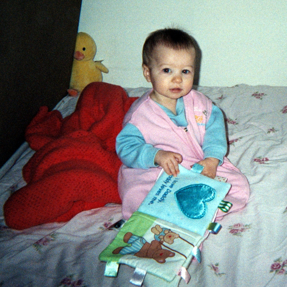 With a aoft baby book, February 2006