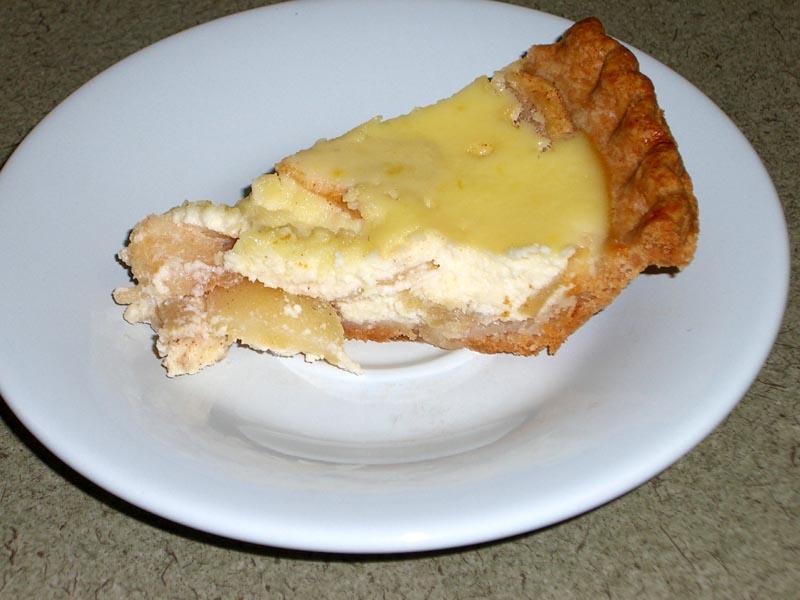 A slice of ricotta-apple pie, November 2005