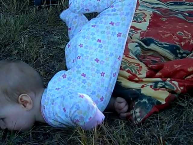 Crawls on grass, November 2005