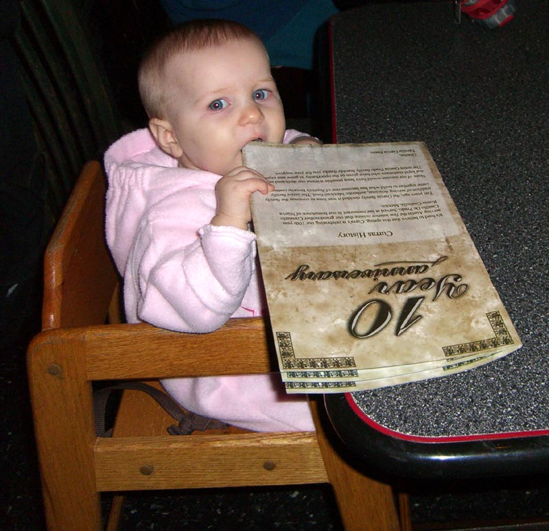 E eats the menu