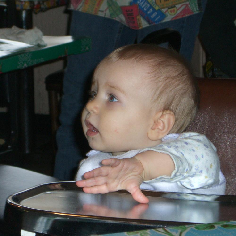 E at the Omelettery, December 2005
